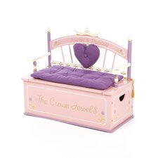 Princess Kids Bench with Storage Compartment