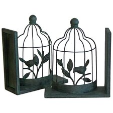 Bird Cage Bookend (Set of 2)