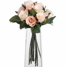 Bunch Of Peach Roses Floral Arrangements