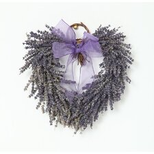 Heart 20cm; Grapevine, French Lavender and Organza Wreath