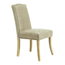 Looe Solid Oak Upholstered Dining Chair (Set of 2)