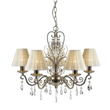 Fulvous 5 Light Crystal Chandelier