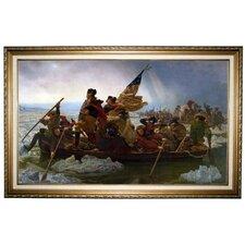 'Washington Crossing the Delaware' by Emanuel Leutze Framed Painting Print