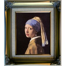 'The girl with a pearl earring' by Johannes Vermeer Framed Painting Print