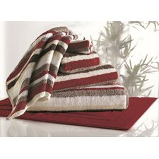 Striped Bamboo Rayon 6 Piece Towel Set