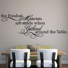 The Fondest Memories Wall Decal