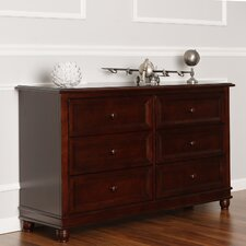 Hampton 6 Drawer Double Dresser