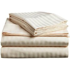 Prestige 1800 Thread Count Brushed Microfiber Striped Luxury Sheet Set