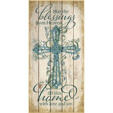 """""""May The Blessings From Heaven…"""" Graphic Art Plaque"""