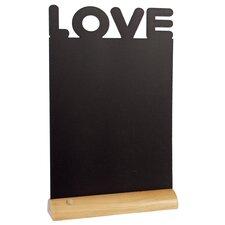 Love Free-Standing Chalkboard 34cm H x 21cm W