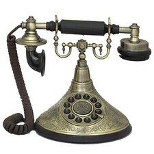 Antique Reproduction Functional 1920's Cradle Push Button Telephone