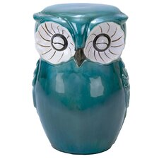 Hand Painted Owl Stool