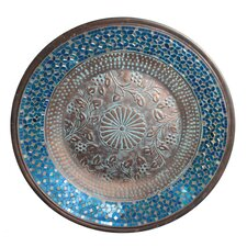 Mosaic Metal Platter Wall Décor