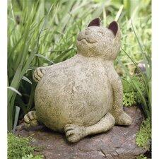 Volcanic Ash Lucky Cat Statue