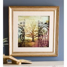 """Glass Tree"" Framed Graphic Art"