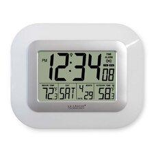 Atomic Digital Wall Clock with Temperature