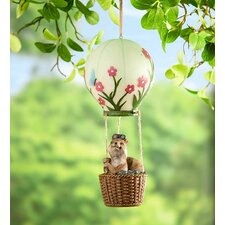 Squirrel in a Lighted Hot Air Balloon Wall Decor