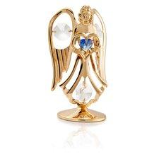 24K Gold Plated Crystal Studded September Angel Birthstone Figurine