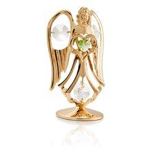 24K Gold Plated Crystal Studded August Angel Birthstone Figurine