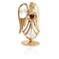 24k Gold Plated Crystal Studded January Angel Birthstone Figurine