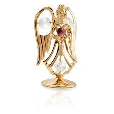 24K Gold Plated Crystal Studded February Angel Birthstone Figurine