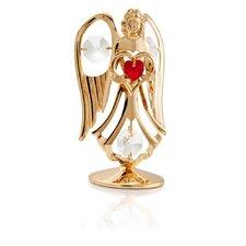 24K Gold Plated Crystal Studded July Angel Birthstone Figurine