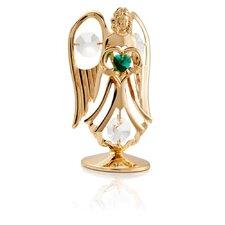 24K Gold Plated Crystal Studded May Angel Birthstone Figurine
