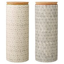 2 Piece Ceramic Jar Set