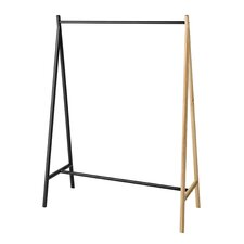 Wood and Metal Clothes Rack
