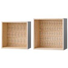 2 Piece Wood Display Box Set