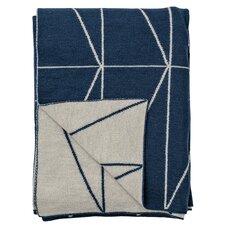 Zig Zag Print Knitted Wool Throw
