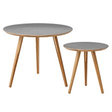 2 Piece Bamboo End Table Set
