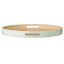 Olivia Round Bamboo Tray with Edge