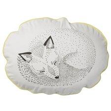 Sleeping Fox Cotton Throw Pillow