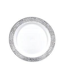 Premium Reusable Heavyweight Plastic Salad Plate (Set of 576)