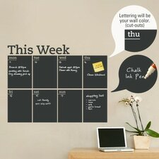 Weekly Calendar Chalkboard Wall Decal