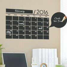 2016 Calendar Chalkboard Vinyl Wall Decal