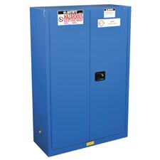 """Sure-Grip® 65""""H x 43""""W x 18""""D 2 Door `EX Hazardous Material Steel Safety Cabinet"""
