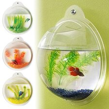 Fish Bubble Deluxe Acrylic Wall Mounted Aquarium Tank
