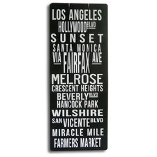 Modern Home Retro Subway Sign - Los Angeles Landmark Wall Décor