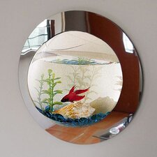 1 Gallon Reflection Fish Bubble Deluxe Mirrored Wall Mounted Aquarium Tank