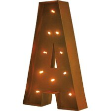 Rustic Vintage LED Light Glow Letter Wall Décor
