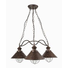 Holyoke 3 Light Outdoor Pendant