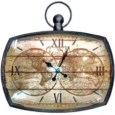 Cercis Mapping The World 70cm Wall Clock