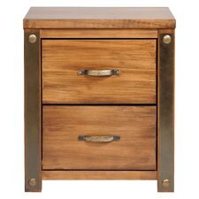 Bilboa 2 Drawer Bedside Table
