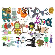 Fantasy Forest Critters Wall Decal