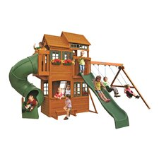 Shelbyville Deluxe Wooden Swing Set