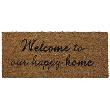 Adrea Welcome To Our Happy Home Mat