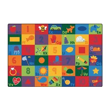 Sequential Literacy Seating Area Rug