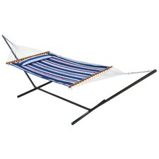 Santorini Premium Reversible Two Person Fabric Quilted Hammock